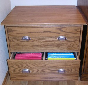 Oak Filing Cabinet, providing organization for business papers and an attractive addition to a home office