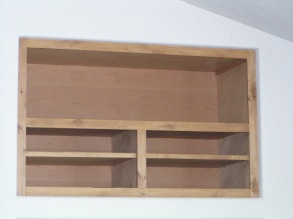 Upper Shelving Unit of Built-in Entertainment Center