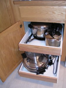 Rollouts for Base Cabinet, make it easy to reach pots and pans