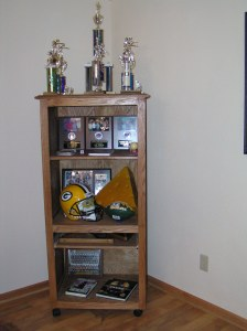 Oak Trophy Display Unit, to hold your trophies and sports memorabilia